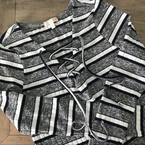 Gianni Bini Lace Up Sweater Dress